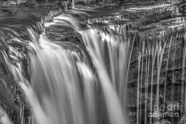 Wall Art - Photograph - Gentle Falls In Bw by Paul W Faust -  Impressions of Light