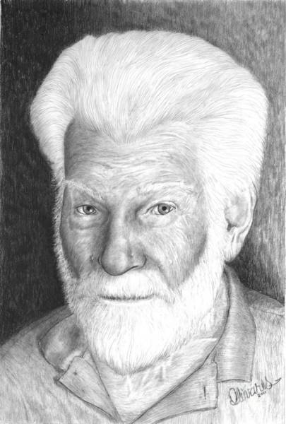 Drawing - Gentleman With White Beard by Joe Olivares