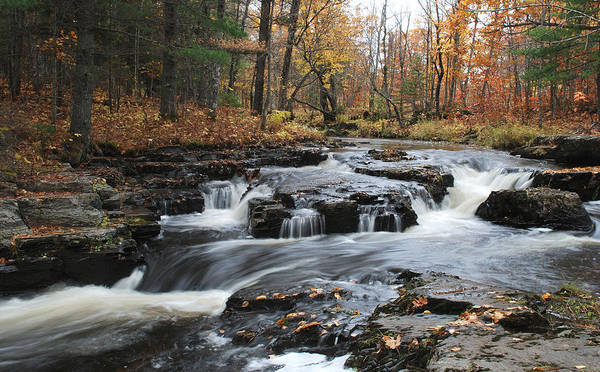 Baraga Photograph - Gently Falling Downstream  by Janice Adomeit