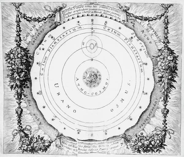 Wall Art - Photograph - Geocentric Cosmology by Royal Astronomical Society/science Photo Library