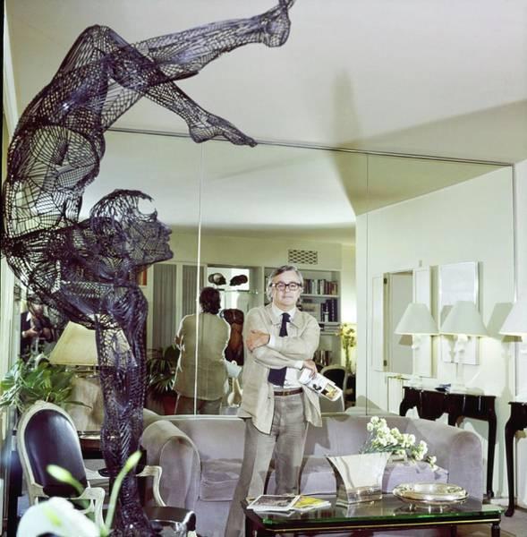 Modernist Photograph - Geoffrey Beene In His Living Room by Ken Regan