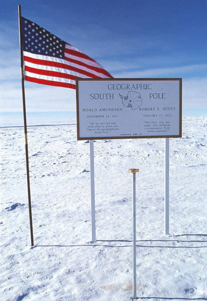 Wall Art - Photograph - Geographic South Pole by John Beatty/science Photo Library