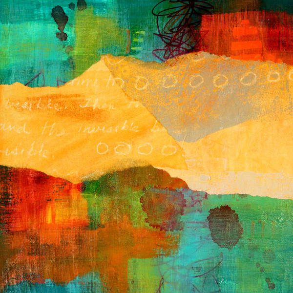 Teal Mixed Media - Geography by Nancy Merkle