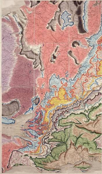 West Wales Photograph - Geological Map Of The West Midlands by Natural History Museum, London/science Photo Library