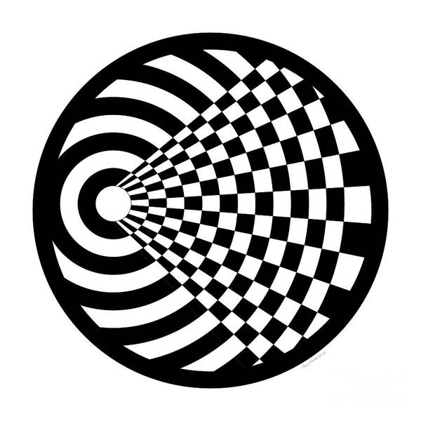 Contrast Digital Art - Geomentric Circle 2 by Amy Kirkpatrick