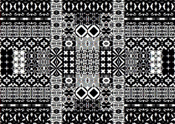 Geometric Abstract In Mono Art Print
