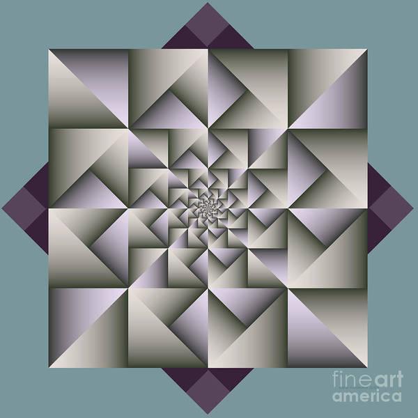 Shadow Digital Art - Geometric Abstraction by Karin Kuhlmann