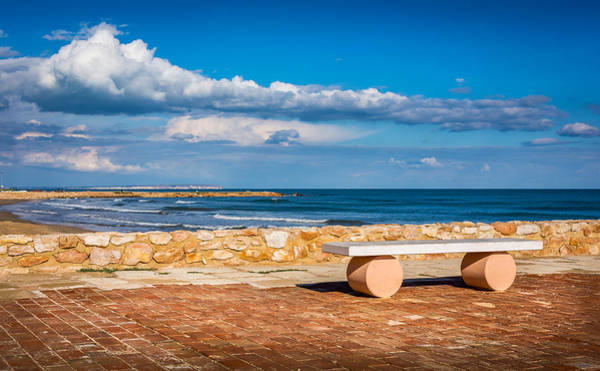 Photograph - Geometric Bench by Gary Gillette
