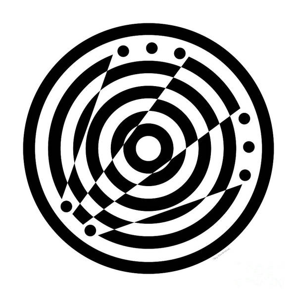 Digital Art - Geometric Circle 6 by Amy Kirkpatrick
