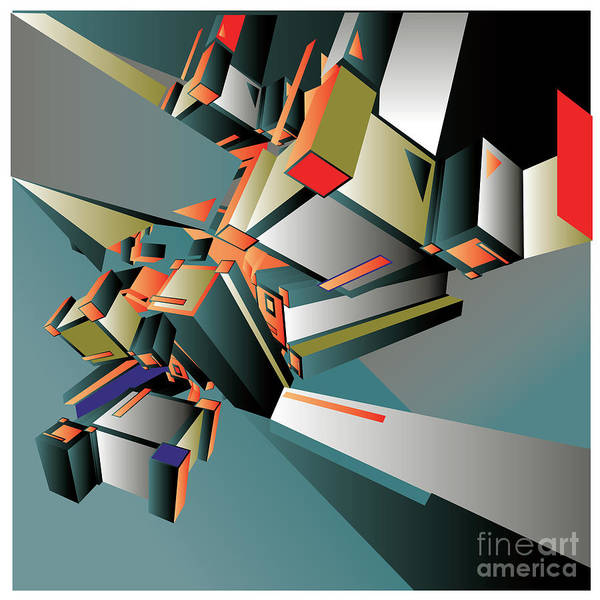 Intelligence Digital Art - Geometric Colorful Design Abstract by Singpentinkhappy