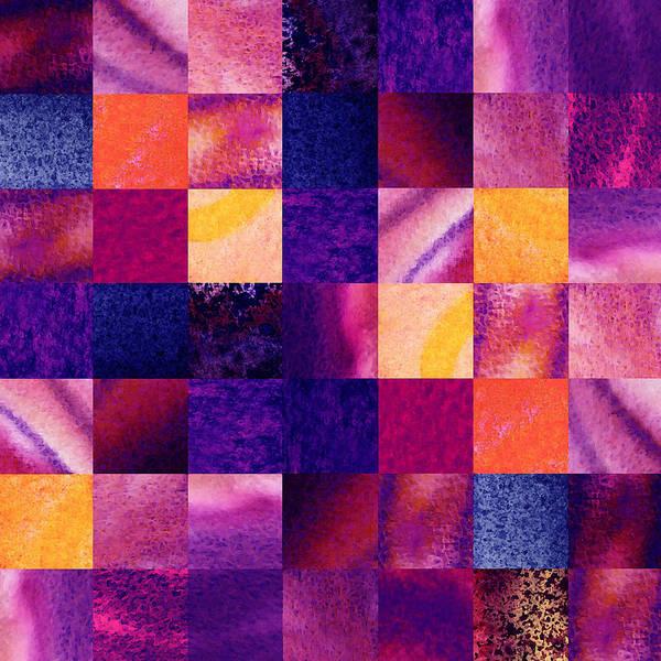 Painting - Geometric Design Squares Pattern Abstract Iv by Irina Sztukowski