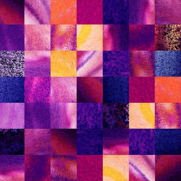 Painting - Geometric Design Squares Pattern Abstract V  by Irina Sztukowski