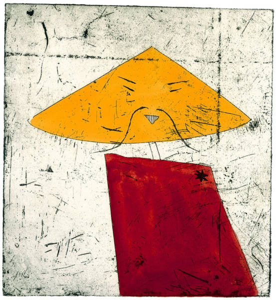 Geometric Figure With Face Art Print by Tim Southall