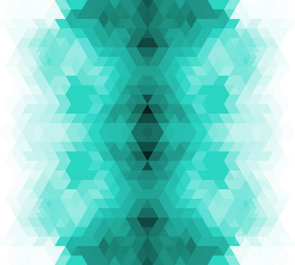 Triangle Digital Art - Geometric Hipster Retro Background by My Portfolio