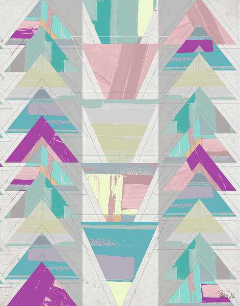 Triangles Painting - Geometric Triangle II by Shanni Welsh