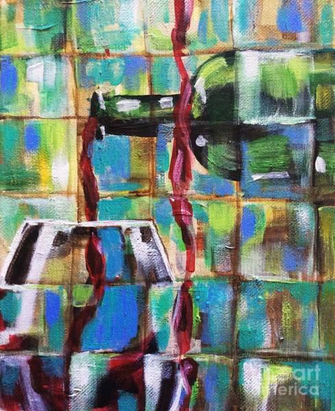 Painting - Geometric Wine 1 by Lisa Owen-Lynch