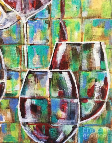Painting - Geometric Wine 4 by Lisa Owen-Lynch