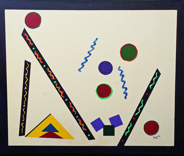 Painting - Geometrical Play by Karin Eisermann