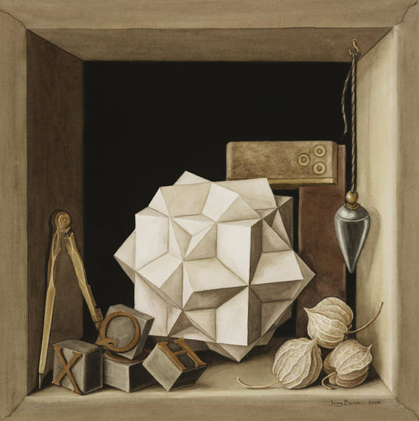 Pendant Photograph - Geometry, 2004 Wc On Paper by Jenny Barron