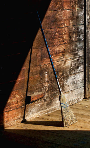 Photograph - Geometry And Texture In The Barn by Gary Slawsky
