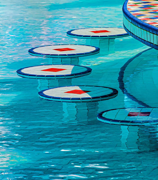 Photograph - Geometry At The Pool Bar by Gary Slawsky