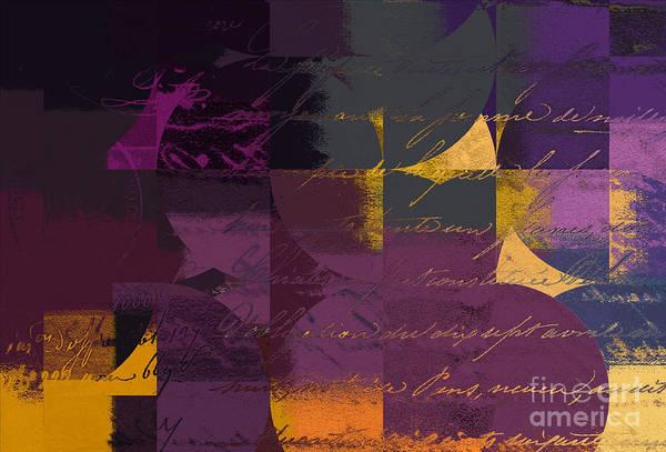 Yellow Ochre Wall Art - Digital Art - Geomix 07 - 064097167 by Variance Collections