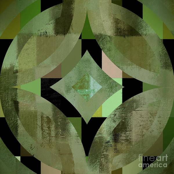 Symmetrical Digital Art - Geomix 12 - 01gbl3j4994100 by Variance Collections
