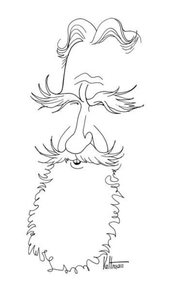 Drawing - George Bernard Shaw Caricature by Edmund Valtman