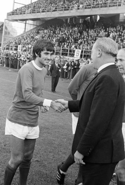 George Best Wall Art - Photograph - George Best At Lansdowne Road 1968 by Irish Photo Archive