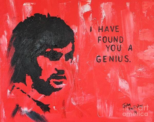 George Best Wall Art - Painting - George Best Genius by John Halliday
