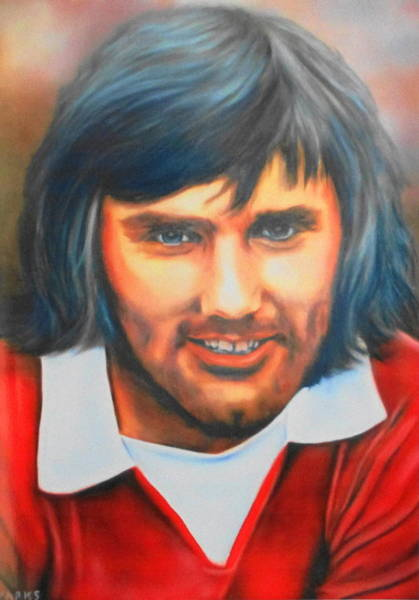 George Best Wall Art - Painting - George Best by Mark Robinson