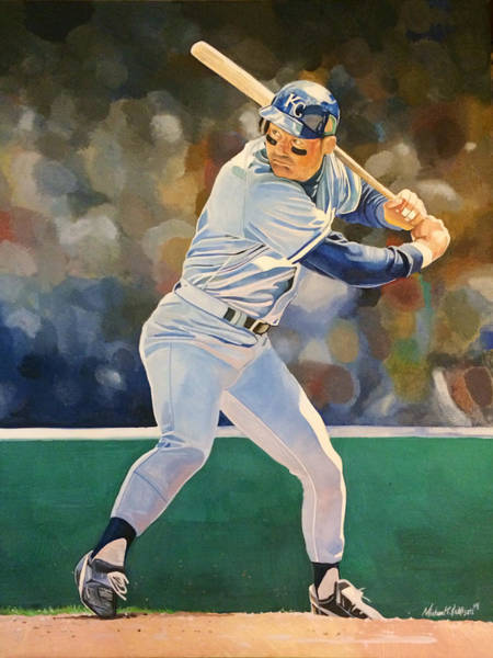 Baseball Hall Of Fame Mixed Media - George Brett - Kansas City Royals by Michael Pattison