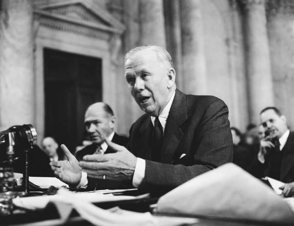 Senate Photograph - George C. Marshall Testifies by Underwood Archives