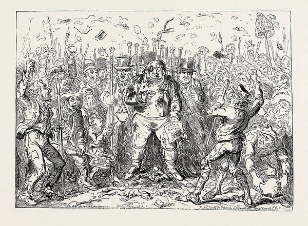 Duty Drawing - George Cruikshank The Laws Delay Showing The Advantages by English School