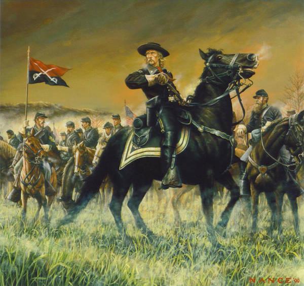 Wall Art - Painting - George Custer Usa by Dan Nance