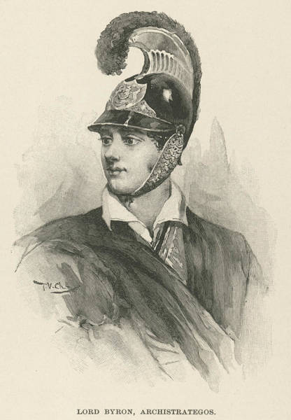 Idealistic Wall Art - Drawing - George Gordon Byron, 6th Baron Byron by Mary Evans Picture Library