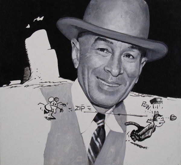 Painting - George Herriman And Ignatz-krazy  by Cliff Spohn