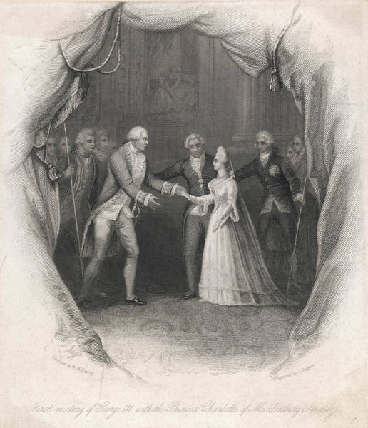 Wall Art - Drawing - George IIi Of England   George Meets by Mary Evans Picture Library