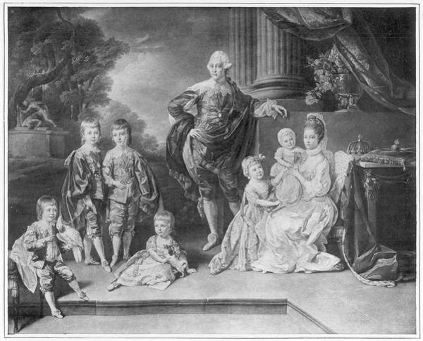 Wall Art - Drawing - George IIi Of England  With Queen by Mary Evans Picture Library