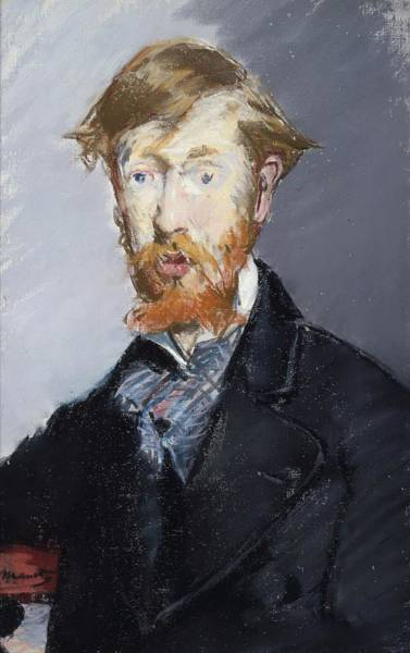 Wall Art - Painting - George Moore by Edouard Manet