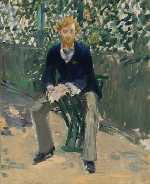 Wall Art - Painting - George Moore In The Artist's Garden by Edouard Manet