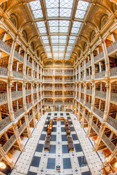 Photograph - George Peabody Library IIi by Clarence Holmes