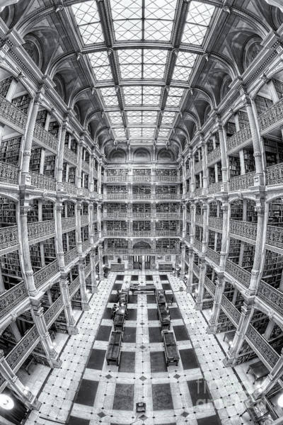 Photograph - George Peabody Library Iv by Clarence Holmes