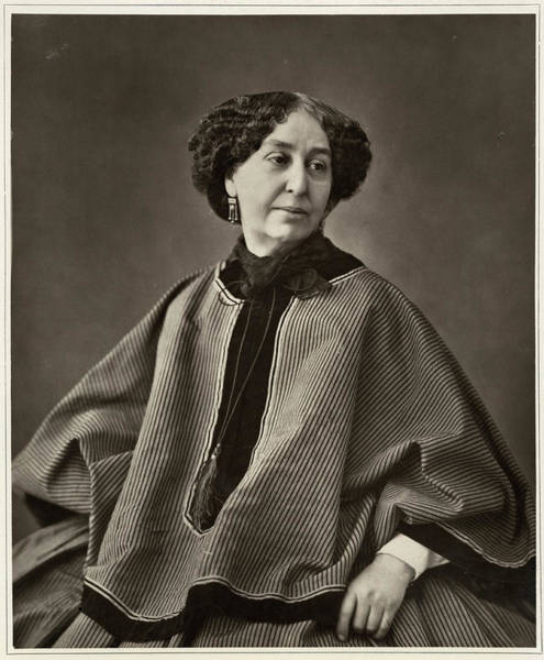 Aurore Photograph - George Sand (1804-1876) by Mary Evans Picture Library