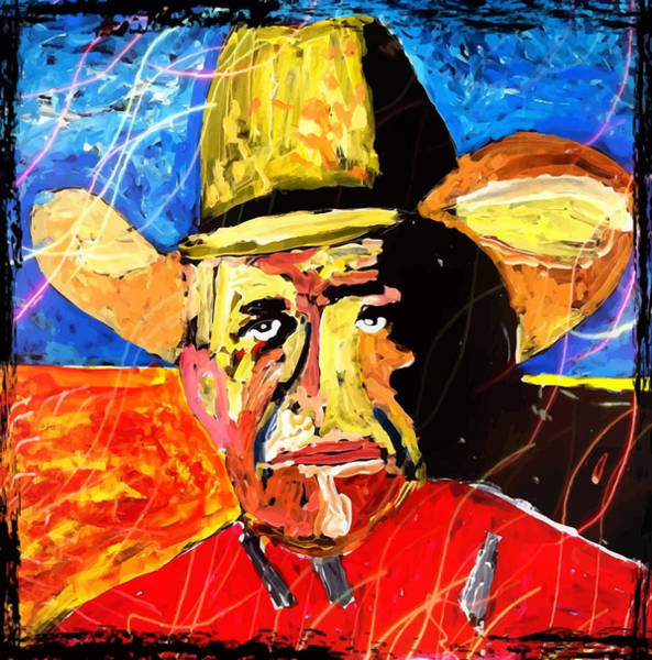 Painting - George Straight by Neal Barbosa