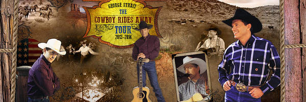 George Strait Cowboy Rides Away Art Print by Retro Images
