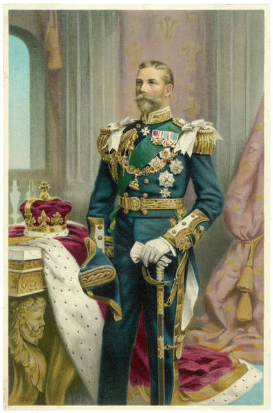Gold Medal Drawing - George V As Prince Of Wales In 1902 by  Illustrated London News Ltd/Mar