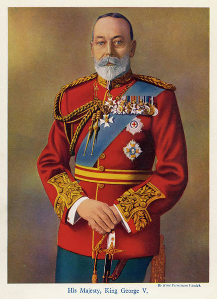 Gold Medal Drawing - George V  In 1935        Date 1865 - by Mary Evans Picture Library
