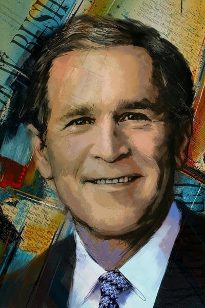 Businessman Painting - George W. Bush by Corporate Art Task Force
