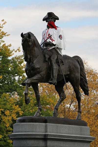 Photograph - George Washington A True Boston Red Sox Fan by Juergen Roth